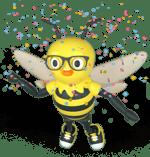 Buzzy with Confetti
