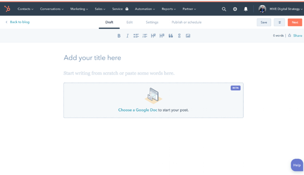 Draft Mode In HubSpot